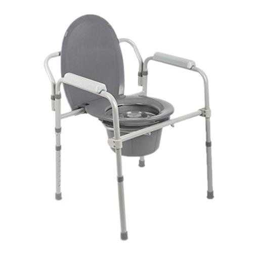 chair steel folding red recliner uk guardian 3 in 1 elongated bedside commode chairs