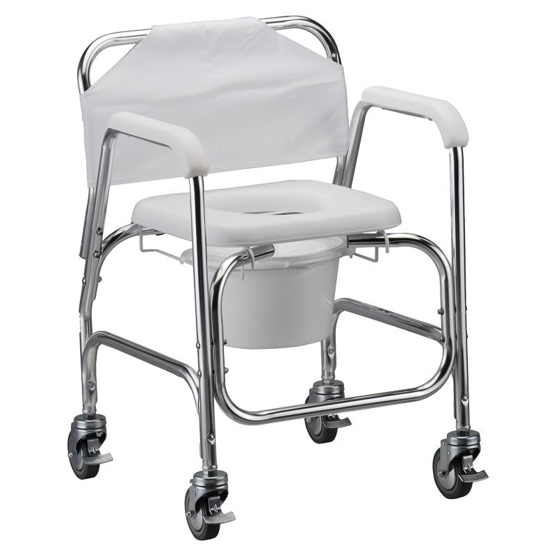 Nova Medical Shower Chair And Commode With Wheels  Shower