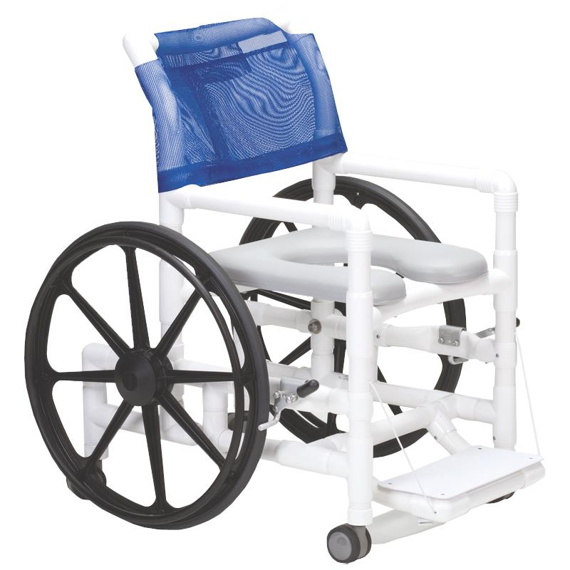 Columbia PVC SelfPropelled Shower and Commode Chair