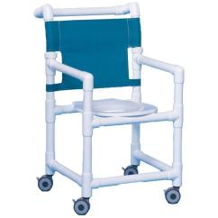 Pvc Commode Chair Active Sitting Duralife Economy Shower With Wheels | Chairs/stools