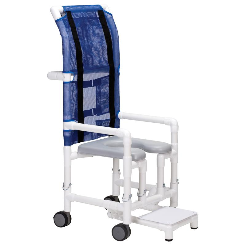 Columbia PVC HiBack Shower and Commode Chair  Shower Chairs