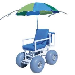 Beach Chair With Wheels Youth Wheelchair Aqua Creek Access 4 Large And Umbrella 25520171621aqua L Png