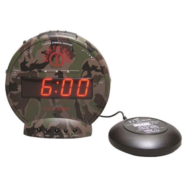 Sonic Bunker Bomb Vibrating Alarm Clock