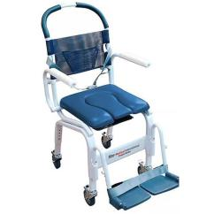 Shower Chair With Wheels And Removable Arms Covers Christening Mor Medical Euro Deluxe Rehab Commode Chairs