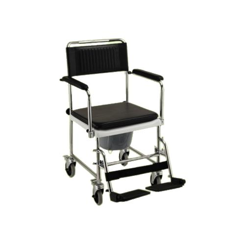 transport wheelchair nova dining room chairs crate and barrel medical drop arm commode chair with wheels bathroom