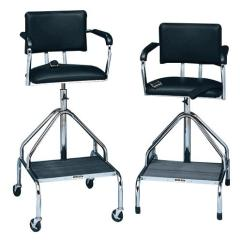 Steel Chair Accessories Cleveland Company Bailey Padded Black Whirlpool Chairs