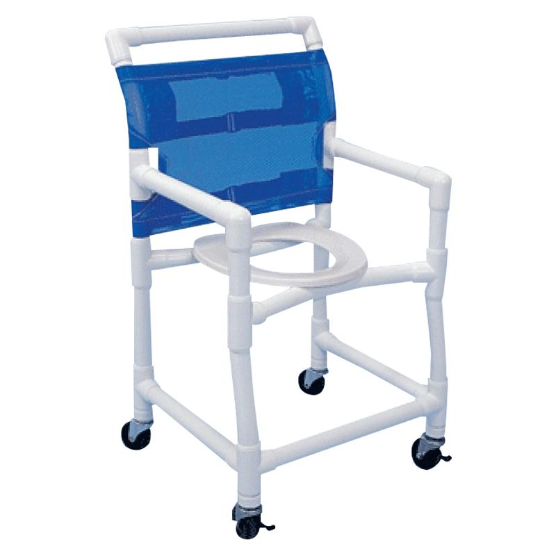Healthline PVC Deluxe Shower Commode Chair  Shower Chairs