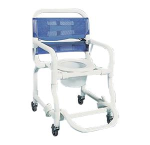 shower chair with wheels and removable arms toddler play tables chairs rolling commode products bathroom safety aids duralife deluxe pediatric