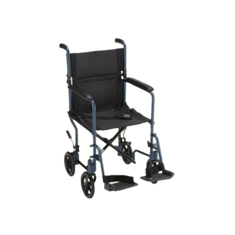 Nova Medical Lightweight Transport Chair With Fixed Arms