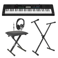 Casio CTK-3400 Portable Keyboard with Bench, Headphones ...