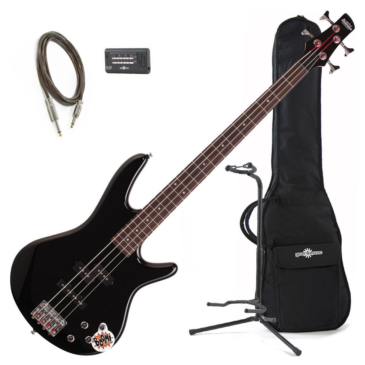 Ibanez Gsr200 Gio Bass Guitar Bundle Black At Gear4music