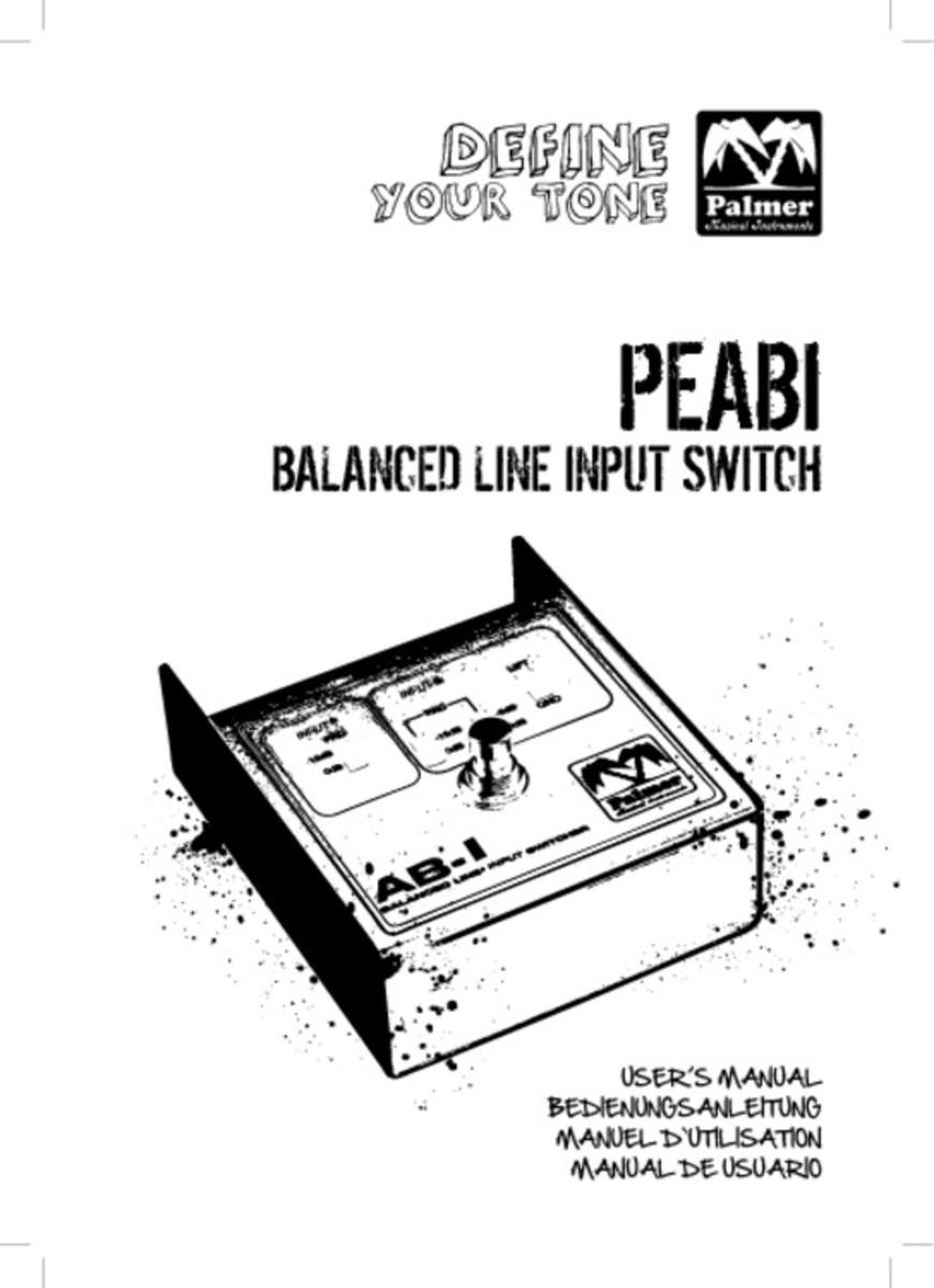 Palmer ABI Balanced Line Input Switch at Gear4music.com