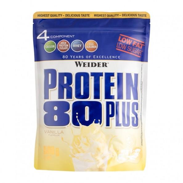 Weider protein 80 plus vanilla powder, protein concentrate