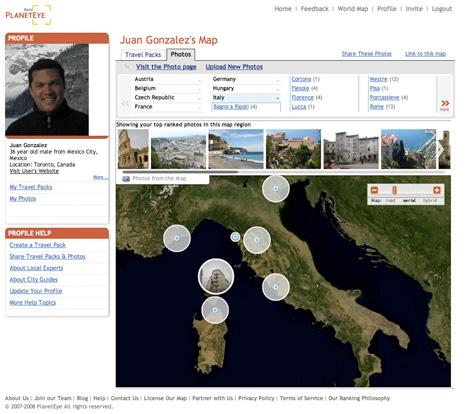 PlanetEye: Plan your Trip using Virtual Exploration