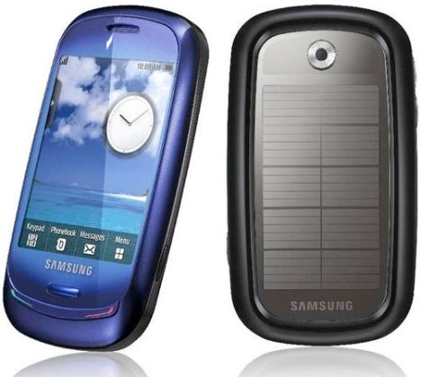 Samsung Blue Earth Handset At MWC