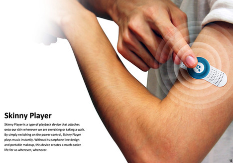 Skinny Player concept offers music on a Band Aid