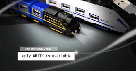 USB Train hub for the kid in you