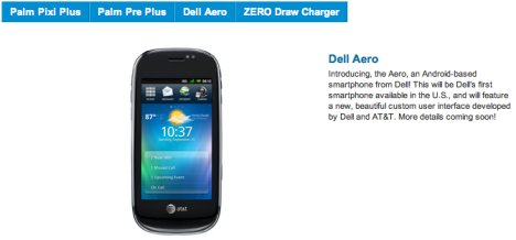 AT&T Gets Dell Aero And Palm Devices