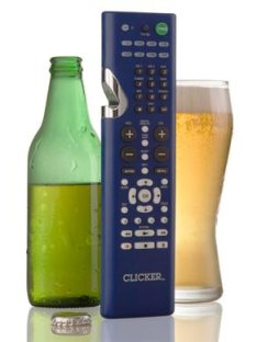 The Clicker Universal Remote Control With Bottle Opener