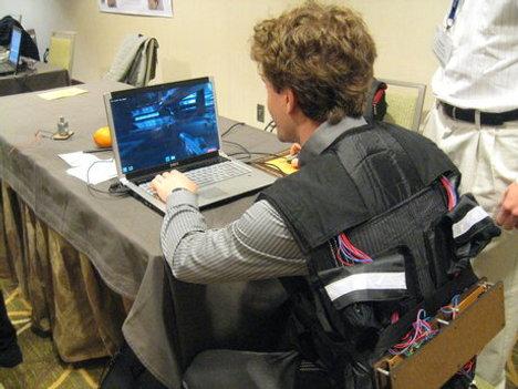 Tactile Gaming Vest Is Out To Hurt You