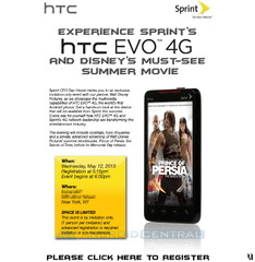 Sprint to hold HTC EVO 4G launch party this May 12th