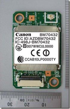 Canon BM70432 Wireless LAN Module Visits The FCC