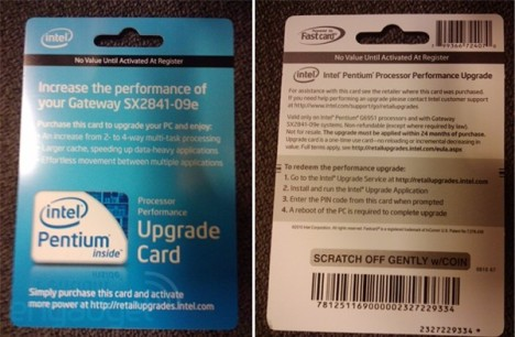 Intel Processor Performance Upgrade Card Boosts Your Chip For $50