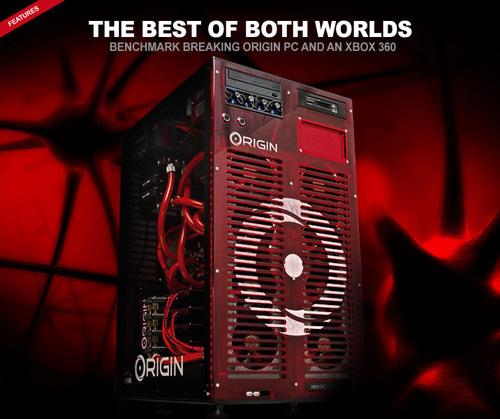 Origin PC PC/Xbox 360 Slim hybrid