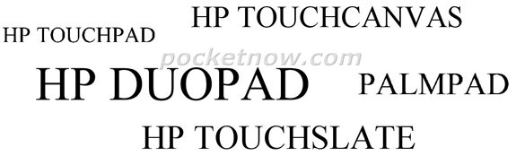 Possible HP tablet names