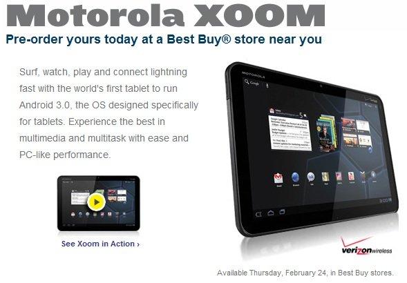 Motorola Xoom Best Buy