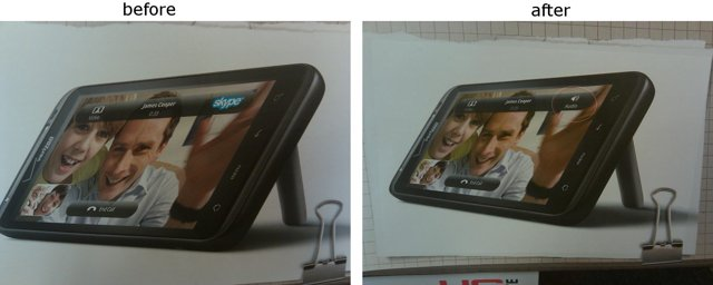 Before and after - HTC advert