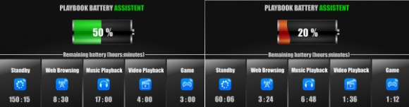 BlackBerry PlayBook battery assistant