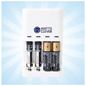 WattsClever alkaline battery charger