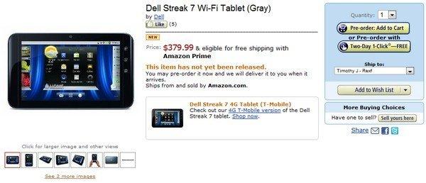 Dell Streak 7 WiFi-only