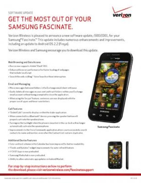 Samsung Fascinate Froyo