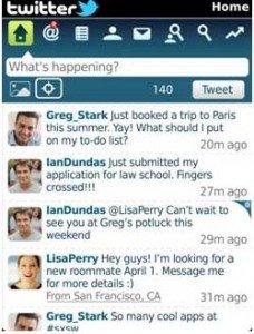 BlackBerry Official Twitter app