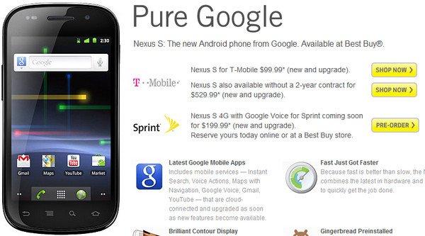 Nexus S 4G Best Buy