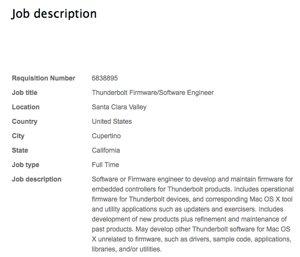 Apple job posting
