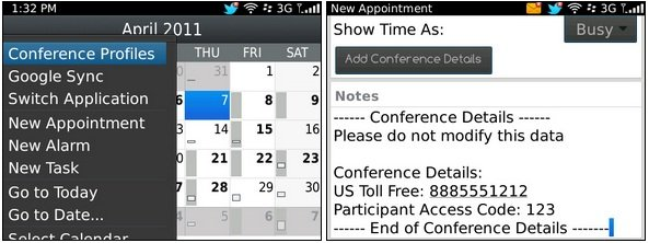 BlackBerry Mobile Conferencing beta