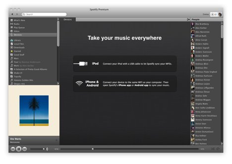 Spotify sync