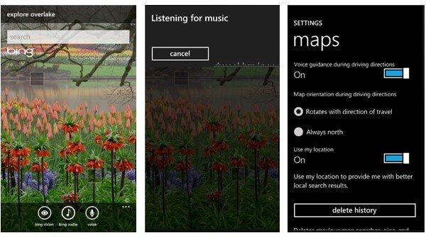 Windows Phone 7 Bing