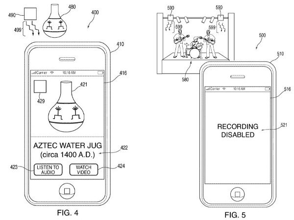 Apple infrared patent