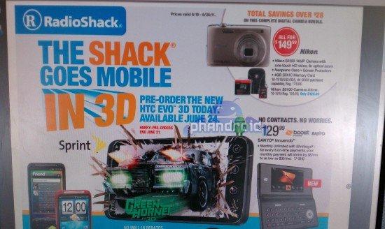 EVO 3D RadioShack June 24
