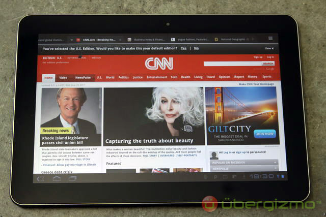 CNN on Tablet