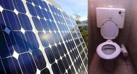 Solar-power toilet