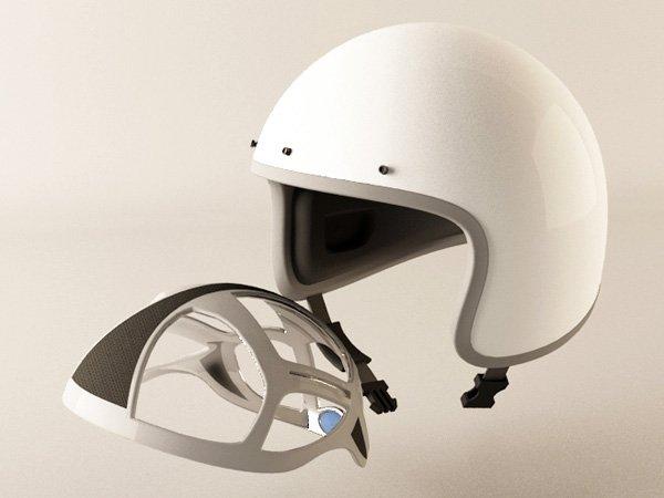 Inflatable helmet pad