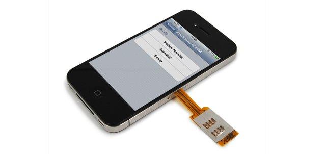 Dual-Sim cover iPhone 4