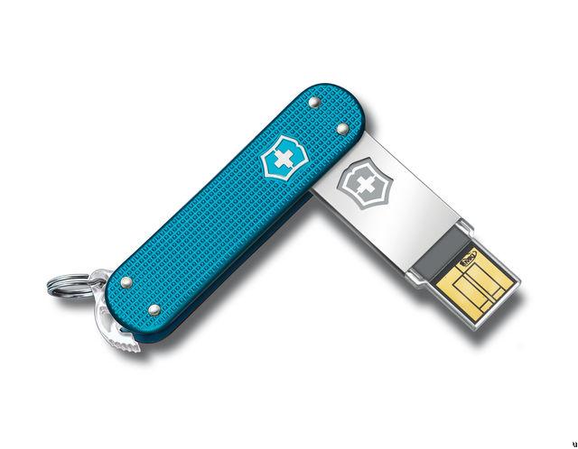 Victorinox Swiss Army Slim USB Drive blue