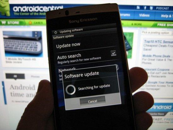 Sony Ericsson Xperia Arc update