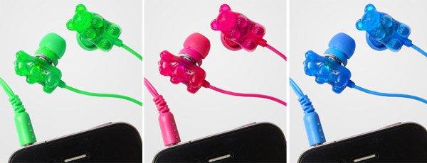 Gummi Bear scented earphones